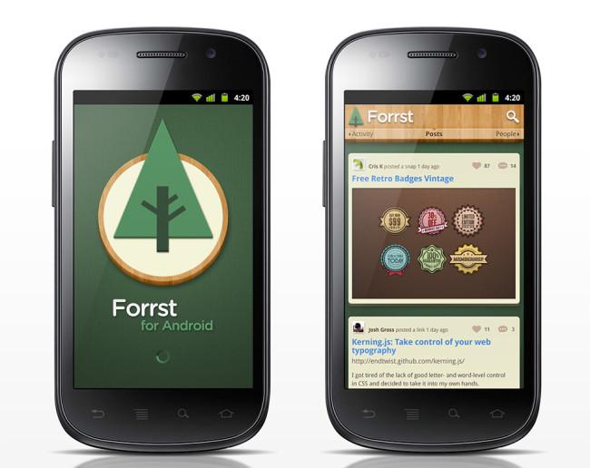 Forrst App UI Design Mockups